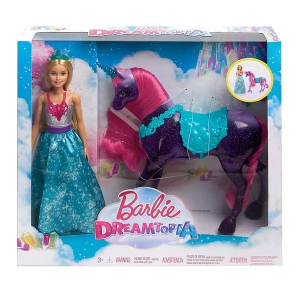 Barbie Dreamtopia Princess Doll And Unicorn