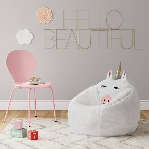 Character Bean Bag Chair White Unicorn