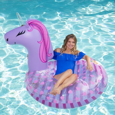 Cheapees  Inflatable Animal Pool Float + Matching Drink Holder