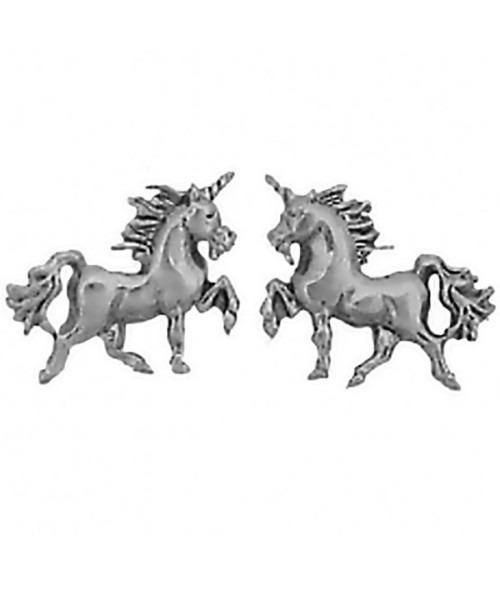Cm 925 Sterling Silver Unicorn Earrings Studs Tiny Mini Horned