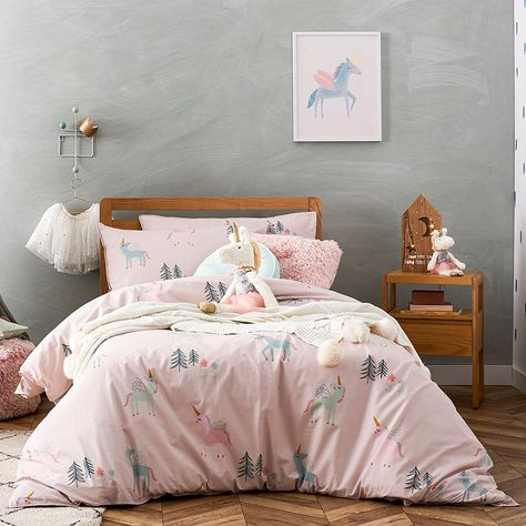 Covered In Magical Unicorns, This Quilt Cover Set From Adairs Kids