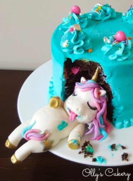 Cute Fat Unicorn Cake Ever! Made By Olly's Cakery (new Zealand