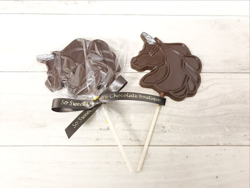 Dairy Free Milk Chocolate Unicorn Lolly