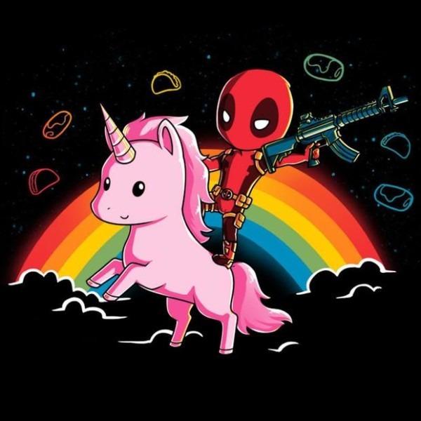 Deadpool Riding A Unicorn T