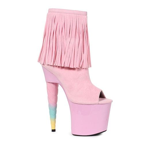 Ellie Shoes 7  Unicorn Heel Pink Bootie 777