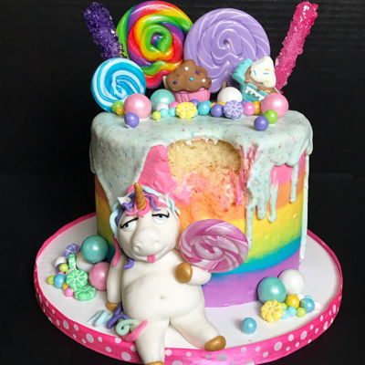 Fat Unicorn Cake Party For Mommy & Me!
