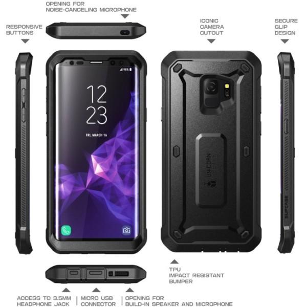 Galaxy S9 Unicorn Beetle Pro Full Body Rugged Holster Case