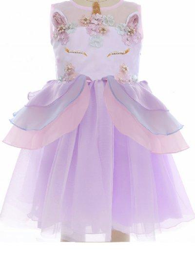 Girls Fancy Unicorn Party Dress In Purple Now In Stock