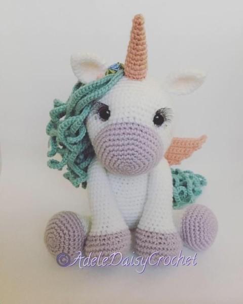 Handmade Crocheted Pegasus Unicorn Toy Plush Soft Stuffed
