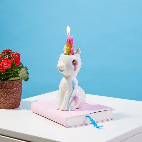 Hatching Unicorn Candle