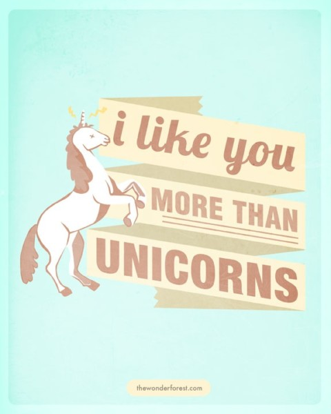 I Mean That, Sincerely   Unicorns  Print @cody Borgman Borgman