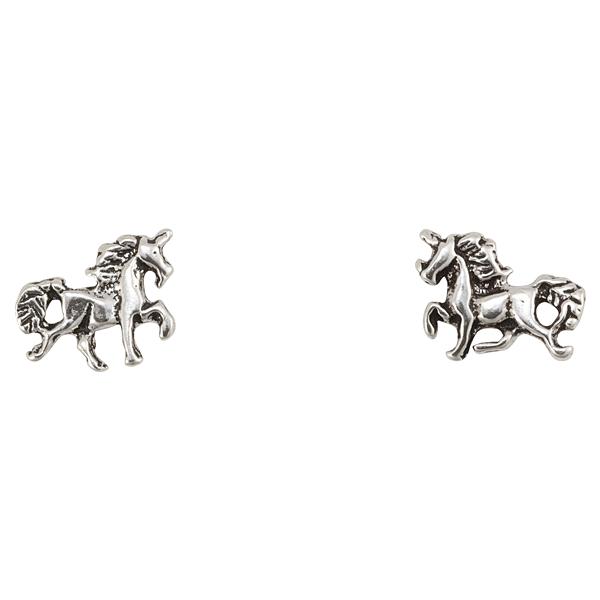 Itsy Bitsy Sterling Silver Unicorn Earrings Earrings