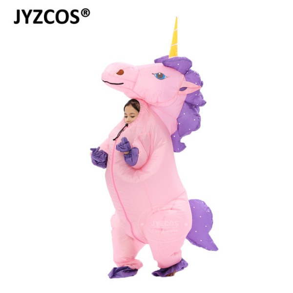 Jyzcos 2018 New Kids Boy Girl Inflatable Unicorn Costume Animal