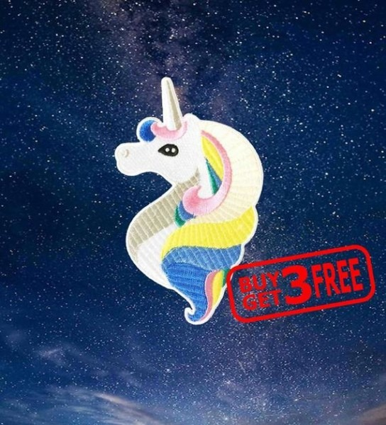 Large Unicorn Applique Iron On Patches Funny Patches Unicorn