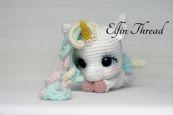 Lily Rainbow Cheeks The Unicorn Amigurumi Pdf Pattern – Elfin Thread