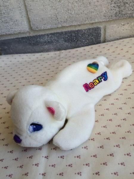 Lisa Frank, Lisa Frank Roary, Roary Beane Baby, Mini Roary Polar