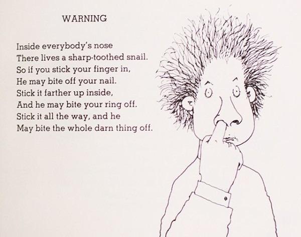 My Favorite Shel Silverstein Poem I Found In 2nd Grade  Of Course