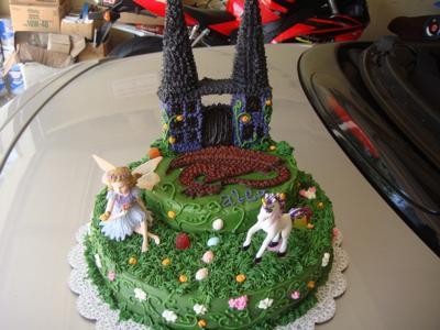 Mythical Fairy, Dragon, Unicorn Cake