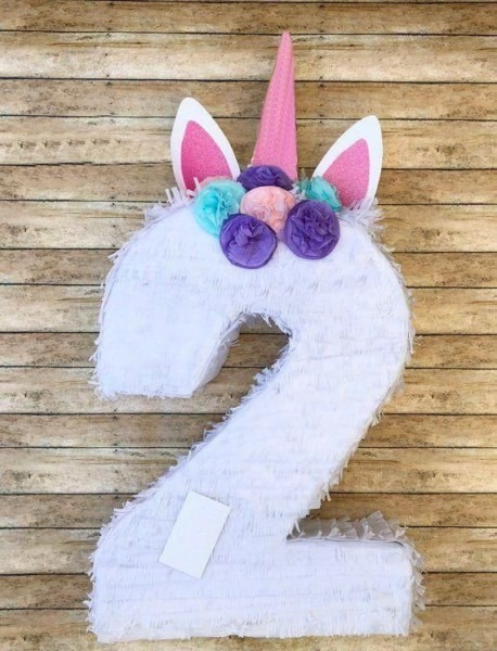 Number 2 Unicorn Birthday Party Pinata Price From Souq In Egypt