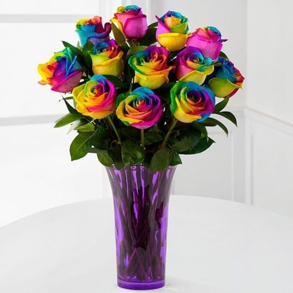 Obsessed With These Unicorn Rainbow Roses