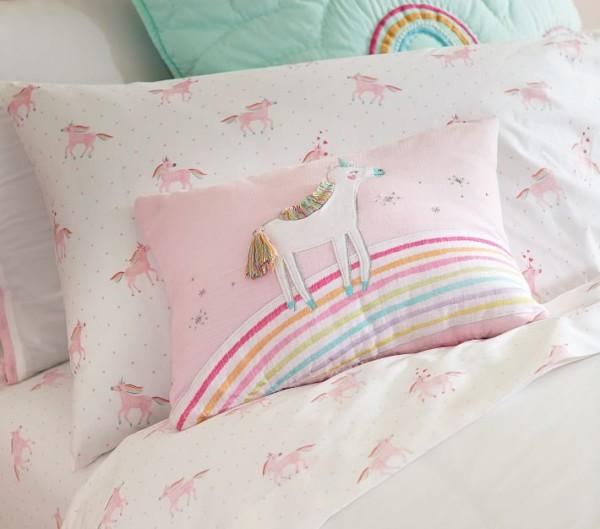 Organic Unicorn Rainbow Kids' Sheet Set