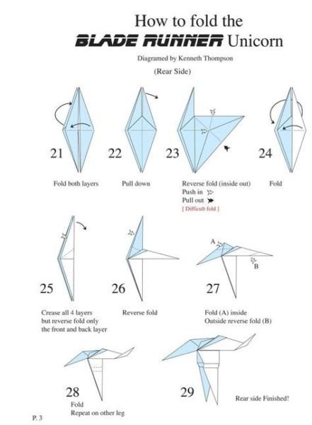 Origami Unicorn From Blade Runner Folding Instructions
