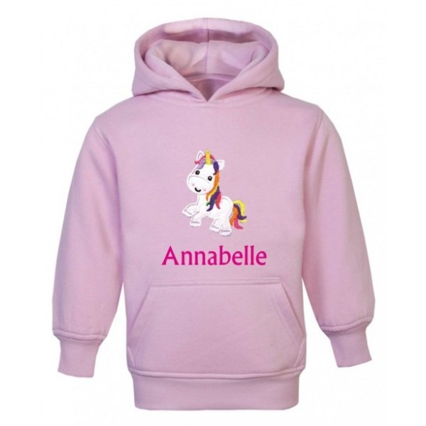 Personalised Unicorn Any Name Embroidered Applique Kids Children's