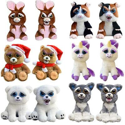 Plush Doll Pets Unicorn Soft Stuffed Scary Face With Attitude Toy