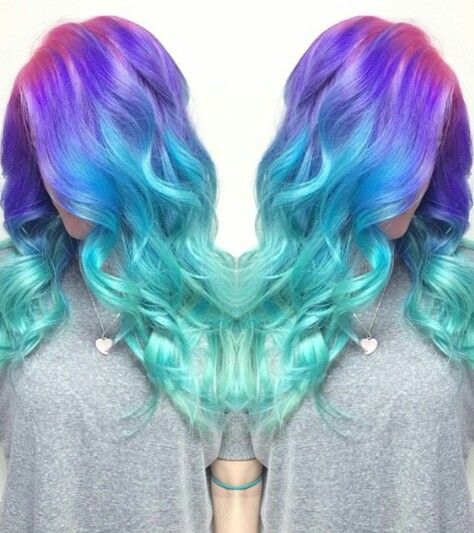 Purple Blue Ombre Unicorn Mermaid Dyed Hair Color Inspiration