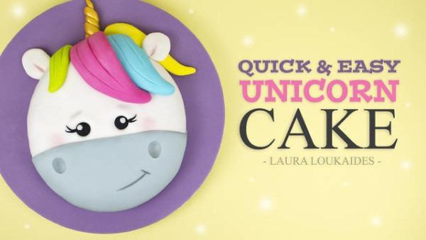 Quick And Easy Unicorn Cake Tutorial