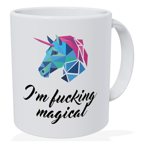 Rainbow Unicorn Mug Christmas Girlfriend Gift, Wife Gift Coffee