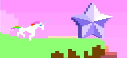 Retro Unicorn Attack  Challenge Edition