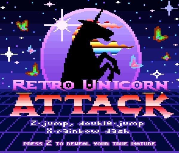 Robot Unicorn Attack Goes Retro
