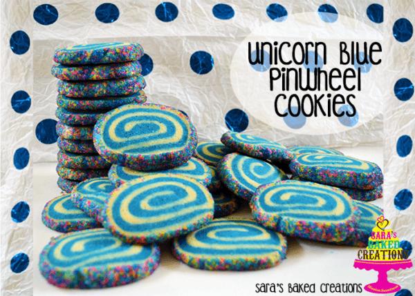 Sara Writes  Unicorn Blue Pinwheel Cookies