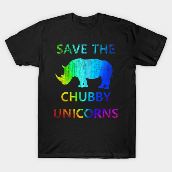 Save The Chubby Unicorns Rainbow