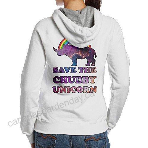 Save The Chubby Unicorns Womens Simple Style Hoodie Sweatshirt
