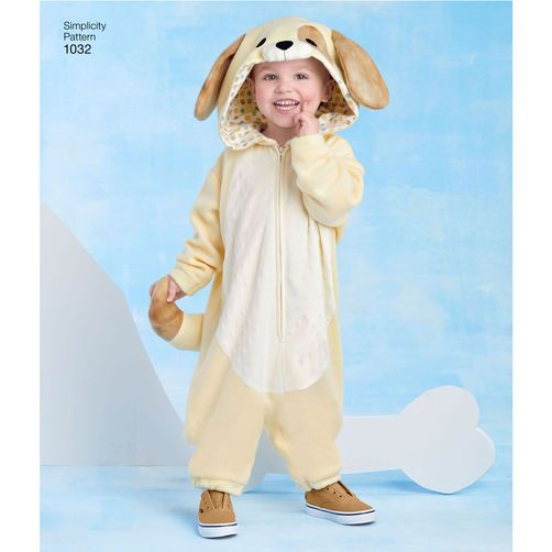 Simplicity Pattern 1032 Toddlers' Animal Costumes