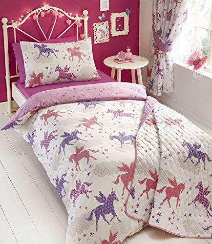 Single Unicorns Duvet Set & Curtains