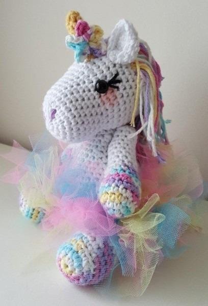 Small Lavender Unicorn Crochet Pattern Amigurumi Pdf Instant