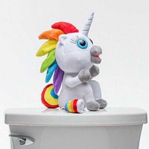 Squatty Potty Pooping Unicorn Rainbow Stool Toy Plush Squatting