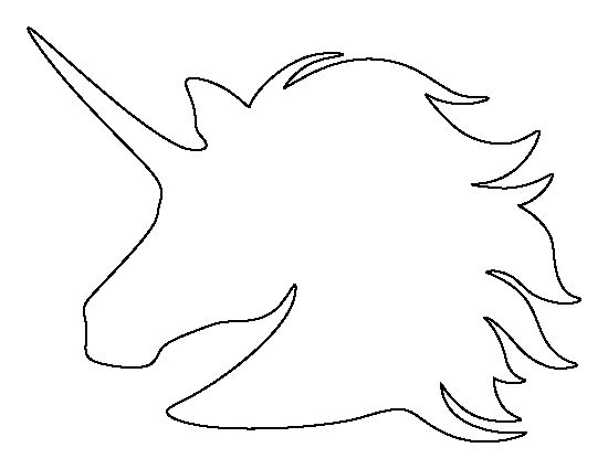 Test Iklan Baru  Unicorn Head Pattern  Use The Printable Outline