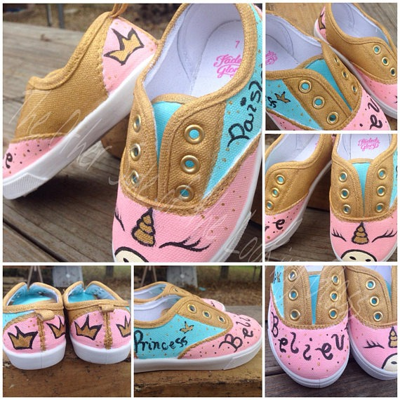 These Hand Painted Unicorn Shoes Are The Perfect Accessory For