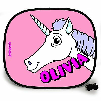 Unicorn Animal Personalised Car Sun Shade Window Baby Protection