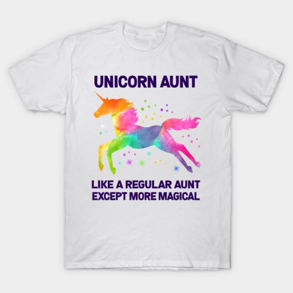 Unicorn Aunt Like A Regular Aunt But More Magical Watercolor