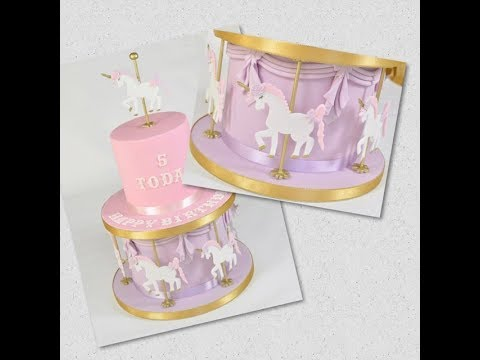 Unicorn Carousel Cake