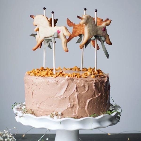 Unicorn Carousel Layer Cake Recipe