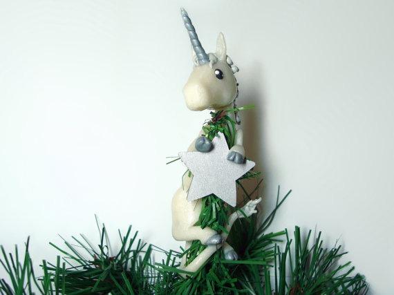 Unicorn Christmas Tree Topper