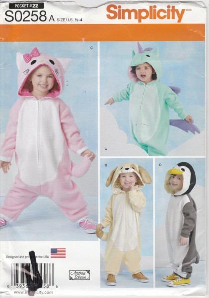 Unicorn Costume Pattern Cat Dog Penguin Uncut Boy Girl Toddler