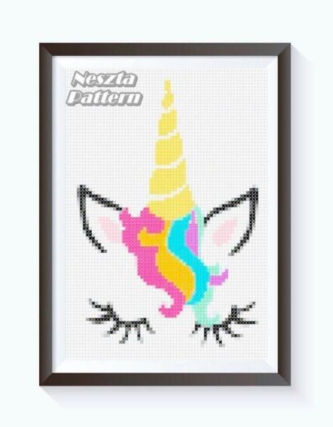Unicorn Cross Stitch Pattern, Baby Nursery Cross Stitch, Unicorn