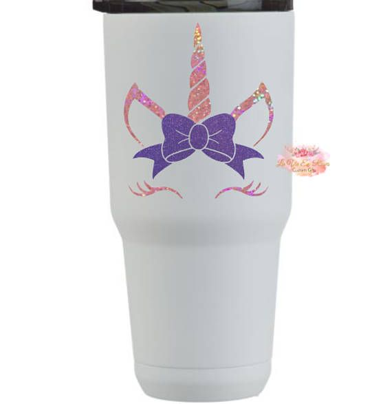 Unicorn, Decal, Yeti Cup, Unicorn With Bow, Glitter Unicorn